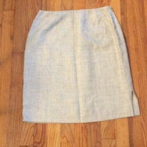 Silk and linen skirt